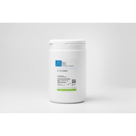Nutrient Mixture F-12 (Ham's) Powder, with L-Glutamine, without Sodium Bicarbonate (1x10 lt)